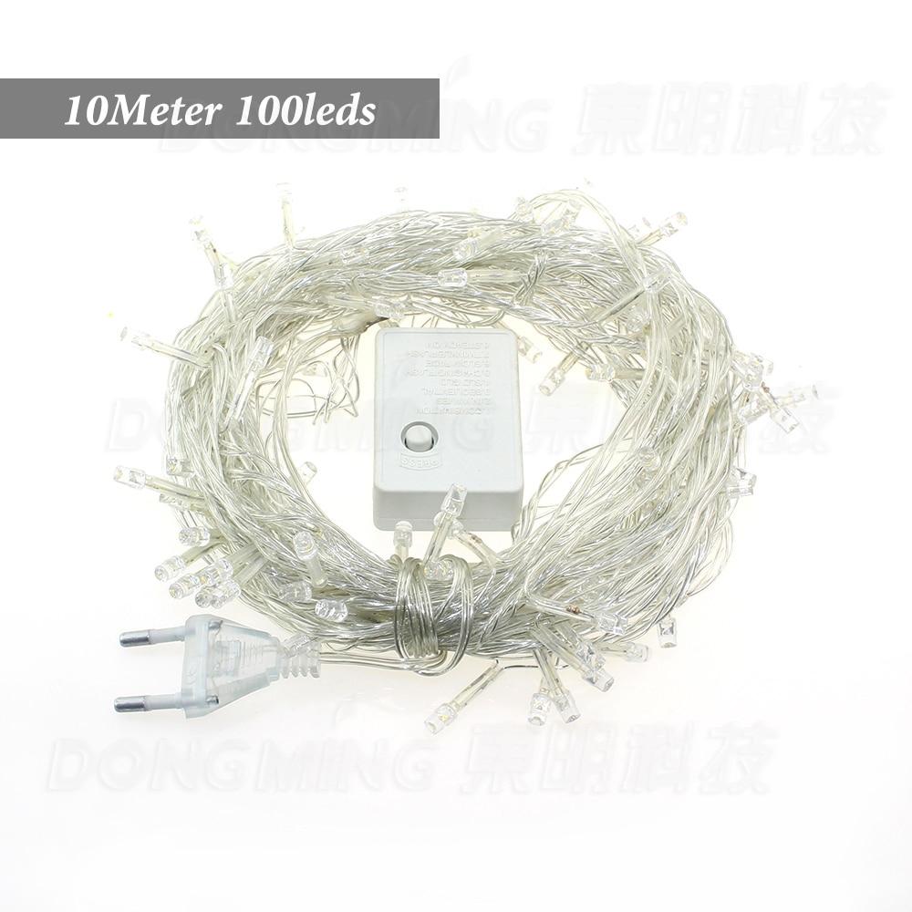 4pcs 100led 10M LED Christmas light Luminaria Home Party Wedding Decoration  Fairy Light Lamp AC220V US