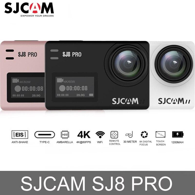 D'origine SJCAM SJ8 Pro écran tactile caméra d'action WiFi 4 K 60fps dvr hd Caméscope télécommande 30 m Étanche Sport Caméra