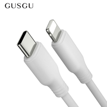 GUSGU PD Fast Charging Cable For iPhone X 8 7 6 Type C Fast Charger Cable For 5 5S SE Macbook Data Cable For iPhone 6S Plus