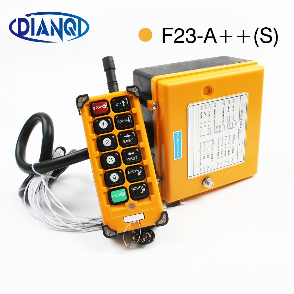 Industrial Wireless Radio remote controller switch 1 receiver+ 1 transmitter speed control Hoist Crane Control Lift Crane cnc lathe milling machine hot sale 4 axis desktop 3020 mini cnc router machine price with factory price for sale