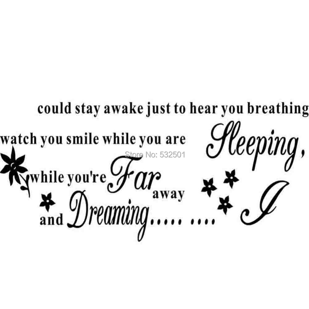 new i could stay awake quote song lyrics wall sticker removable