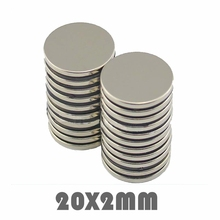 10/20/30pcs N35 Neodymium magnet 20x2mm Super strong round powerful permanent neodymium magnetic Rare Earth disc 20*2