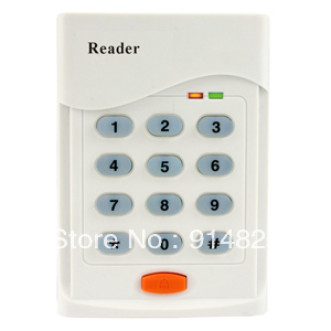 DWE CC RF keypad card access +EM rfid reader + 125khz rfid card reader + wiegand 26 output access control reader proxi rfid card reader without keypad wg26 access control rfid reader rf em door access card reader