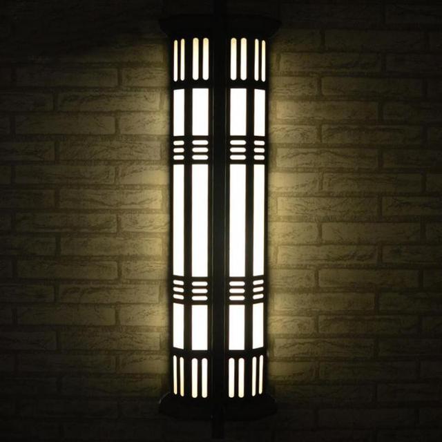 Antique Peinture De Fer Noir Jardin Lumière Yard Lampe Lobby Pathway