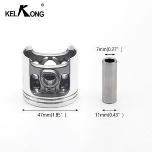 Image 2 - KELKONG 47MM Zylinder Kolben Kit Passt Stihl MS341 MS361 Kettensäge MS 361 341 MS361C Kettensäge #1135 020 1202
