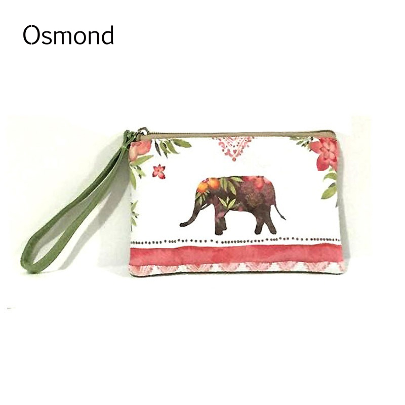Osmond Cute Cat Coin Purses Women Wallets Zipper Canvas Womens Money Pouch Cartoon Elephant Printing Cards Holders Storage Cases 02023 clutch bell double gears 19t 24t for rc hsp 1 10th 4wd on road off road car truck silver