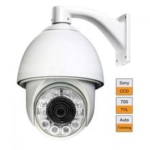 6″ Auto Tracking 22X ZOOM CCD 700TVL PTZ Camera 120M IR High Speed Dome