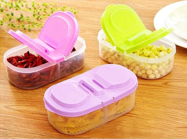 Kühlschrank Aufbewahrungsbox : 1 stÜck doppelfach abgedeckt küche lebensmittel getreide dicht glas