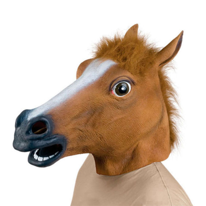 Horse Halloween Mask Headgear Animal Scary Masquerade Latex Masks Ball Airsoft Mask Party Supplies Mascaras Disfraces ...
