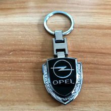 High quality metal Shield Carved Car emblem key ring for OPEL astra j g insignia corsa d vectra c zafira a keychain accessories