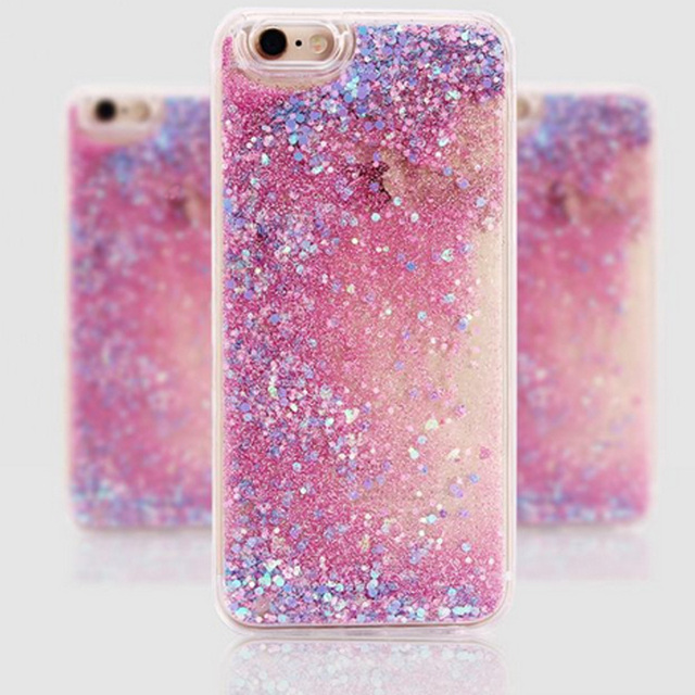 the latest 5133f 99762 206.43 руб.  Sparkling Back Shell Cover Paillette Glitter Star Heart  Flowing Water Liquid For iPhone 6 6s 7 8 X Plus Heart TPU+PC Phone Cases ...