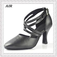Zapatos de Baile Latino Zapatos de las mujeres Comfort Suela De Cuero Negro Del Dedo Del Pie Cerrado Zapatos de salón de Baile de Salsa Zapatos de Baile de Alta Calidad