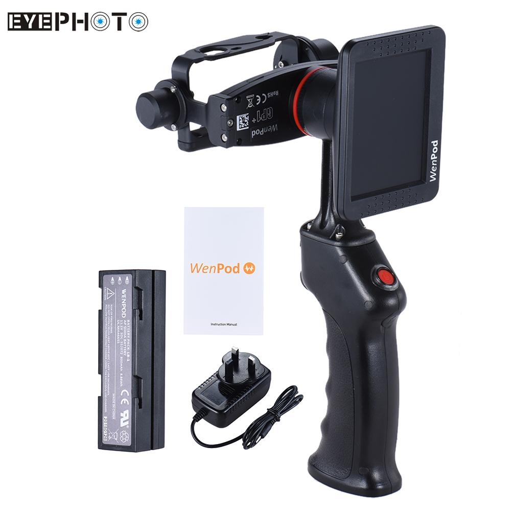 """bilder für Gp1 + hand gimbal abenteuer kamera stabilisator mit 3,5 """"lcd eingebauten monitor für gopro hero 3 3 + 4 action kameras"""