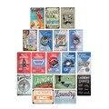 Fifties Ретро табличка с надписью прачечной в стиле комиксов, Настенный декор, металлическая винтажная табличка, постер, Прачечная, декоративн...