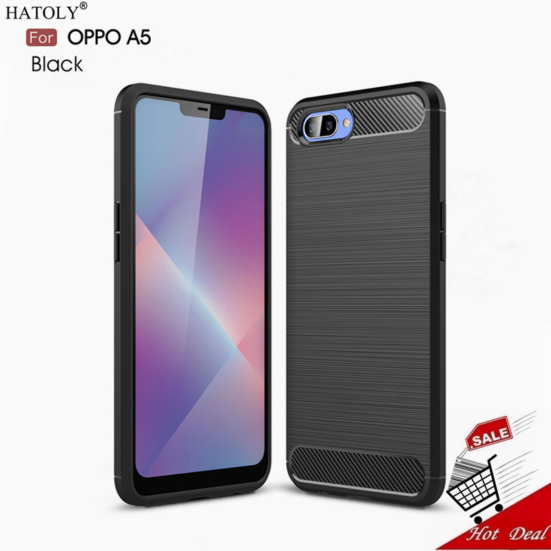 OPPO A5 Case OPPO A5 Case Cover 6.2 inch Hybrid Silicone + TPU Back Cover Phone Case OPPO A5 A 5 OPPOA5 PADM00 Case Protective