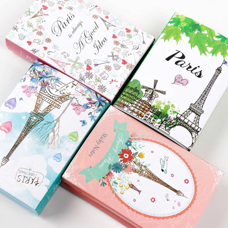New Paris Eiffel Tower 6 Folding Memo Pad N Times Sticky Notes Memo Notepad Bookmark Gift Stationery