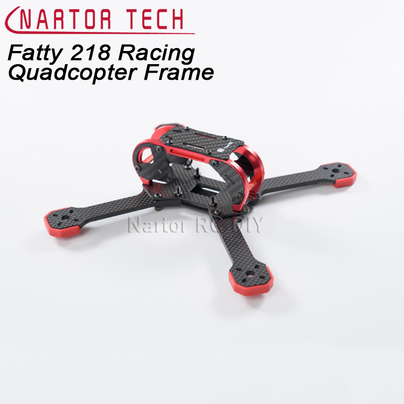Fatty 218 3K 4mm Carbon Fiber Racing Quadcopter Frame 218mm 7075 Metal parts suitable for F3/F4 Flying tower Controller drone with camera rc plane qav 250 carbon frame f3 flight controller emax rs2205 2300kv motor fiber mini quadcopter