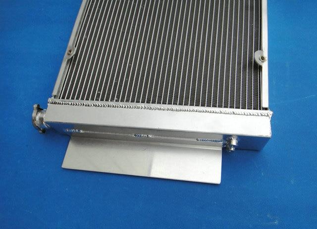 Radiador de carrera de aluminio para Mazda RX2 RX3 RX4 RX5 S1 S2 RX-7 de sabana RX7 SA/FB SA22C con tubo calentador MT