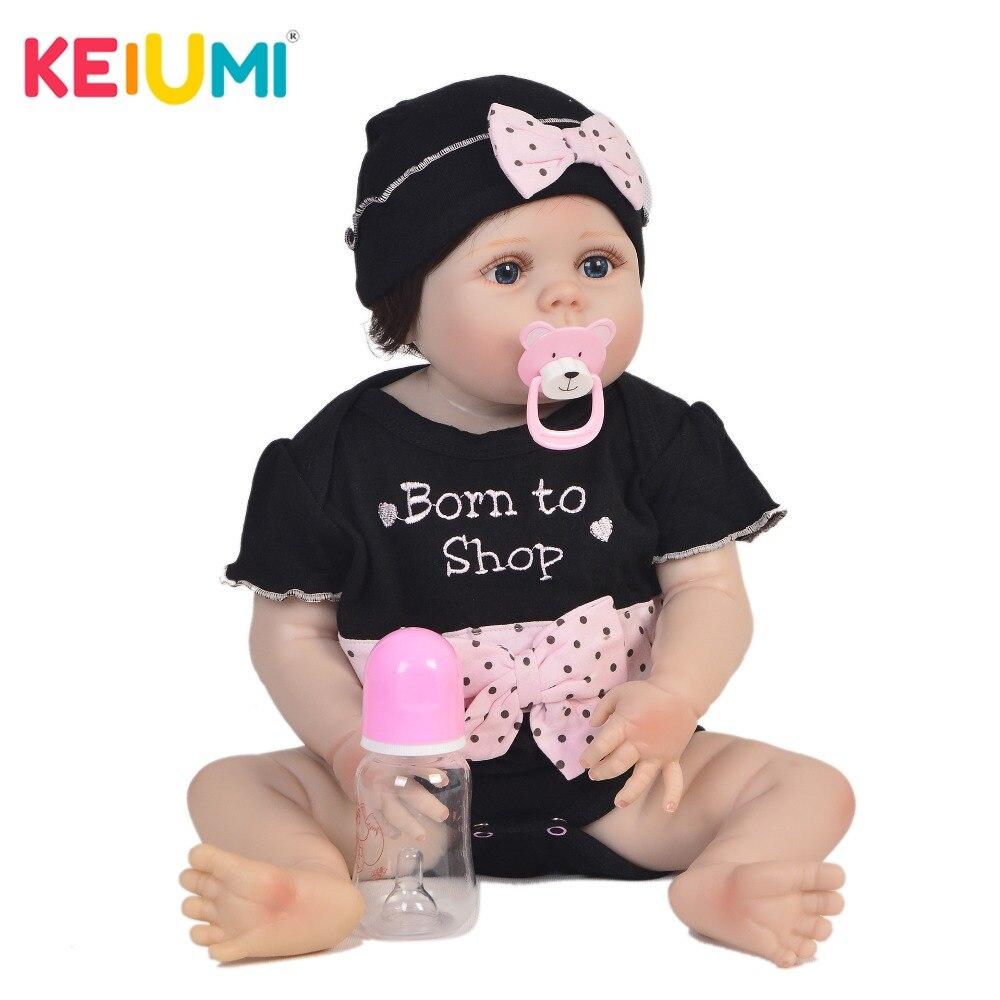 Oyuncaklar ve Hobi Ürünleri'ten Bebekler'de Güzel 23 Inç Tam Silikon Bebek Bebek 100% El Yapımı Gerçekçi Yeniden Doğmuş Bebekler Kız çocuk için oyuncak noel hediyesi Yatmadan Oyun Arkadaşı'da  Grup 1