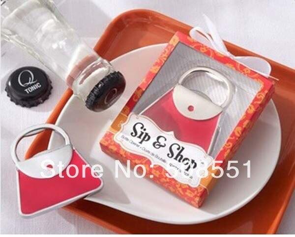 11e4d3251 Envío Gratis rojo de la boda del favor regalo SIP y abrelatas de botella  del monedero del bolso, abrelatas del vino cerveza