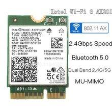 إنتل واي فاي 6 AX201 بلوتوث 5.0 ثنائي النطاق 2.4G/5G اللاسلكية NGFF زر E CNVi واي فاي بطاقة AX201NGW 2.4 Ghz/5 Ghz 802.11ac/ax