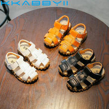 leather sandals boys 2018 100% soft leather in summer the ne