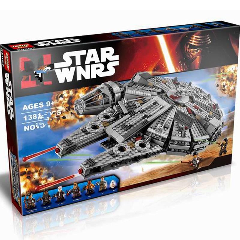 DHL Star wars ucs przebudzenie mocy milenijnych 05007 z gwiezdnych wojen, 75105 zabawki budynku Falcon bloki cegieł w Klocki od Zabawki i hobby na  Grupa 1