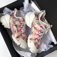Casual Shoes Women Chunky Sneakers Platform Brand zapatos de mujer Printing chaussures femme Ladies White footware Patchwork