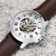 FOSSIL Men Automatic Watch Top Brand Luxury Fashion Mechanical Sport Wristwatch with leather