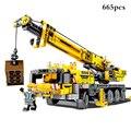 665pcs City Engineering Technic Machine Car Building Blocks Compatible Legoing Technic Enlighten Bricks Toys For Children Gifts
