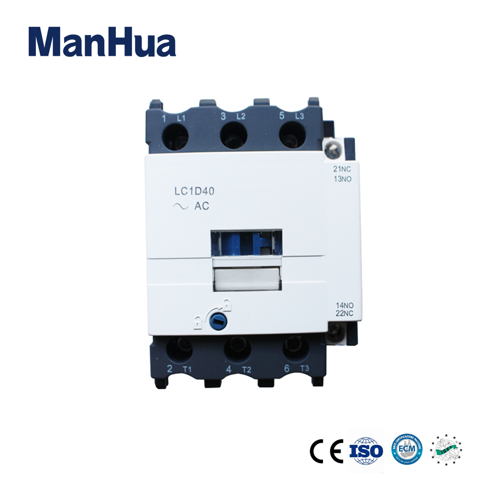 Manhua Online Shopping LC1-D40 3P+No+Nc Modular Dc Coil Contactor Motot Protection 40A Electrical Magnetic Contactor sayoon dc 12v contactor czwt150a contactor with switching phase small volume large load capacity long service life