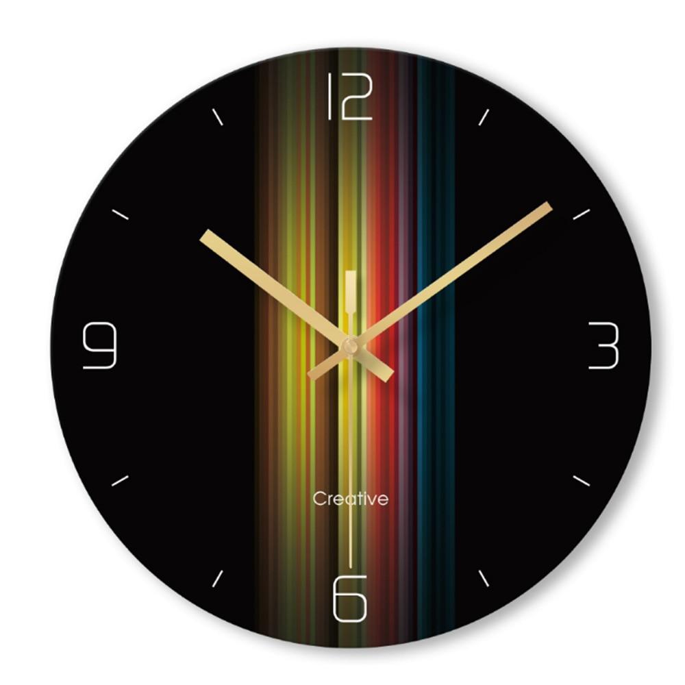 Rainbow Creative Minimalist Wall Clock Fashion Clock