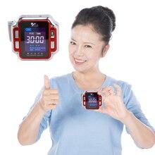 Лазерная терапия Запястье диод 650 нм низкая частота гипертония гиперлипидемия лечение гипервязкости часы Лазерная терапия устройство