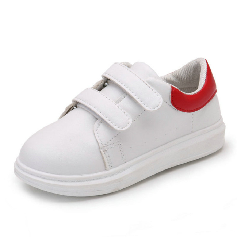Kids Sports Shoes 2017 New Spring fashion White Children Student Sneakers for Baby Boys Girls Flat shoe Soft Soles size 26~36