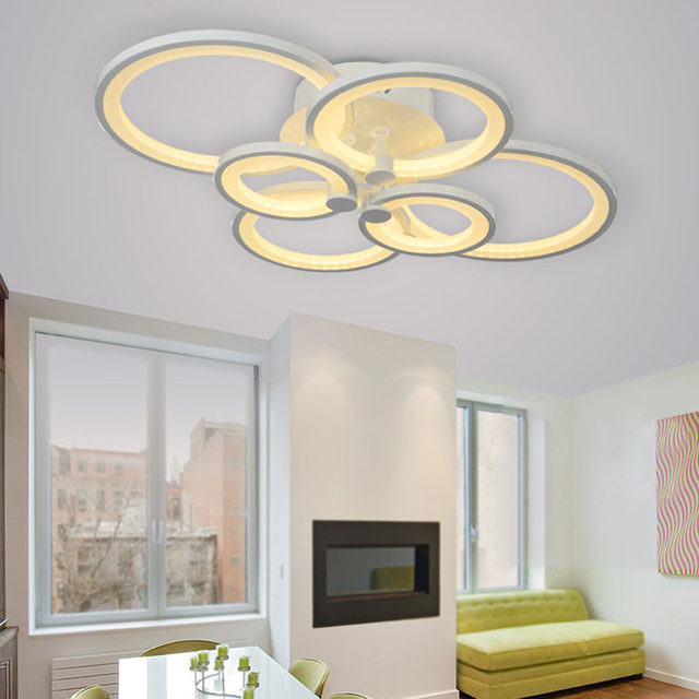 Blue Time Acrylic Modern Led Ceiling Lights For Living Room Bedroom Plafon Home Lighting Lamp