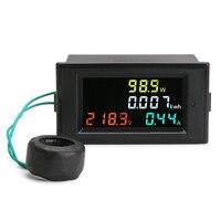 AC 80 300V 100A Voltage Current Color LCD Display Panel Digital Voltmeter Ammeter Watt Active Power Multimeter Volt Amp Meter