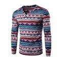 Весна Национальный Polo Рубашка V-образным Вырезом Новый Длинным Рукавом Майки Топы Повседневная Plos Рубашка Горячие Мужчины Одежда Мода