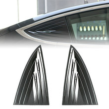 Side Door Rear Window Blinds Frame 2Pcs For Tesla 2018-2019 Model 3 Trimming Accessories Exterior Parts(China)