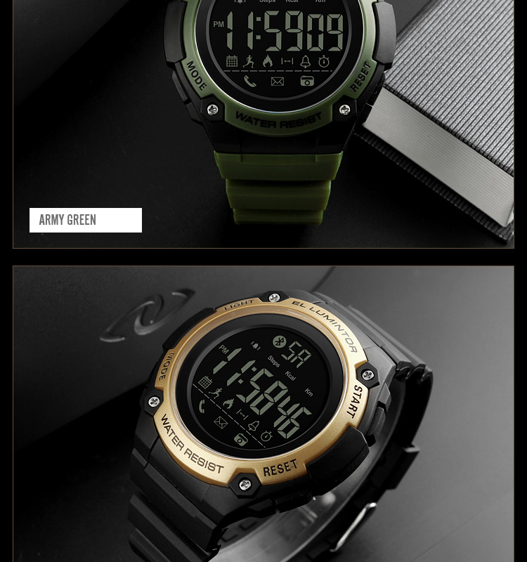 SKMEI 2019 New Bluetooth Sport Smart Watch Men Waterproof Calories Pedometer digital SmartWatch For IOS Android (19)
