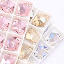 Soft light No zircon Alien Glass Crystal flat Back Buttons Decoration Creation Women Dress colorful rhinestones acces