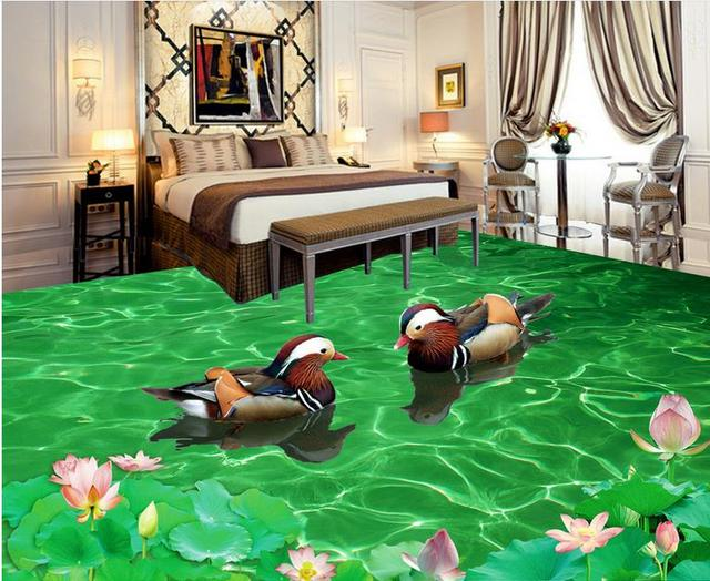 3d Fußboden Preise ~ D böden eigene d tapete für wohnzimmer mandarin enten in das