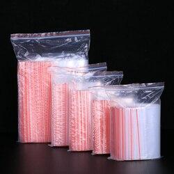100 pcs/lot Kleine Zip-Lock Kunststoff Taschen Wiederverschließbaren Transparent Schmuck/Lebensmittel Lagerung Tasche Küche Paket Tasche Klar ziplock Tasche