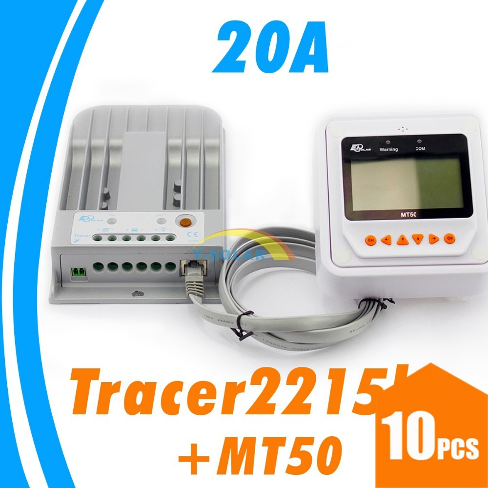 Tracer MPPT LCD Solar Controller 20A Solar Charge Controller 150V solar panel input Remote Meter LCD MT50 MT-50 EPsolar EP solar