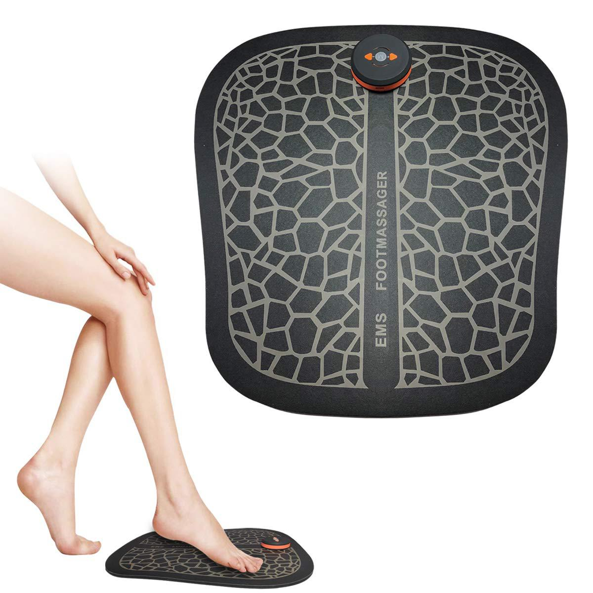 Electric EMS Foot Care Massager Wireless Feet Muscle Stimulator ABS Physiotherapy Revitalizing Pedicure Tens Foot Vibrate