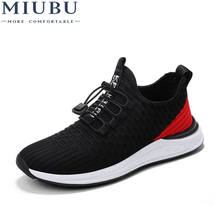 MIUBU Men Summer Shoes Fashion Breathable Net Cloth Leisure Shoe Male Sneakers Adult Non-slip Comfortable Vulcanize