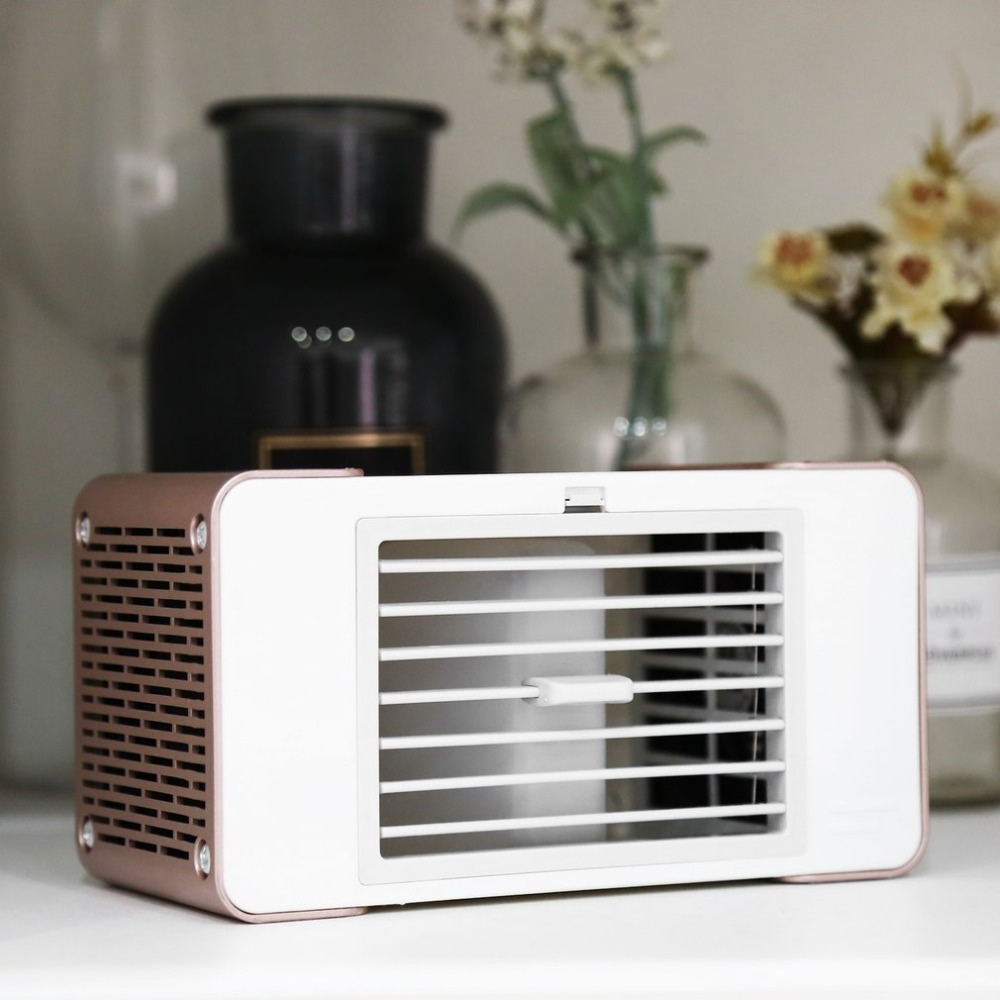 mini air Practical Design Compact Size Personal USB Air Conditioner Air Cooler Home Office Desk Cooler Cooling Bladeless Fan