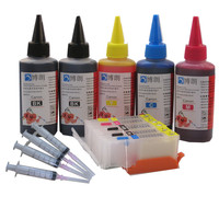 PGI 470 470 refillable ink cartridge For CANON PIXMA MG6840 MG5740 TS5040 TS6040 printer + 5 Color Dye Ink 500ml