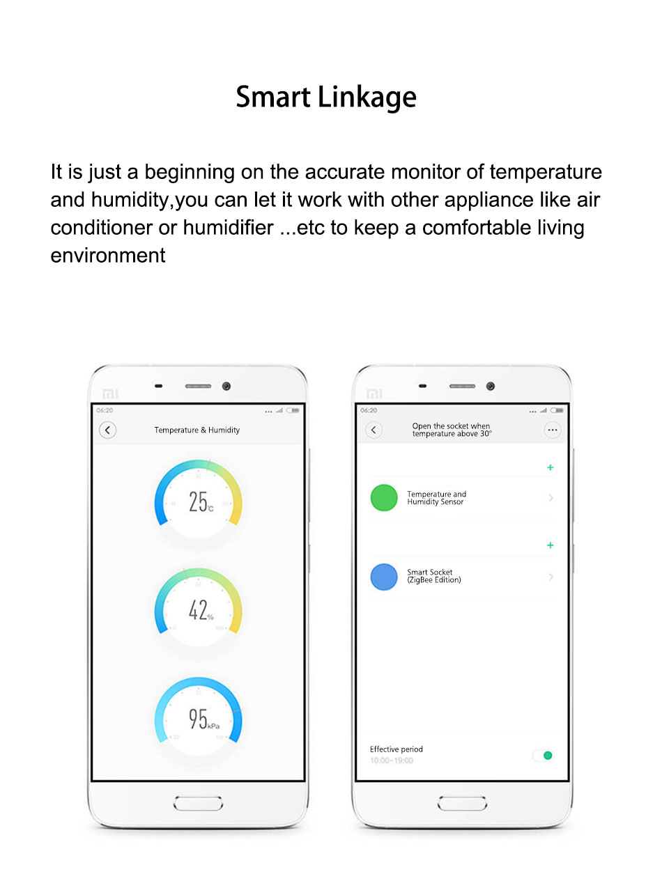 Xiaomi MIJIA Aqara Temperature & Humidity Sensor With Battery Smart ...