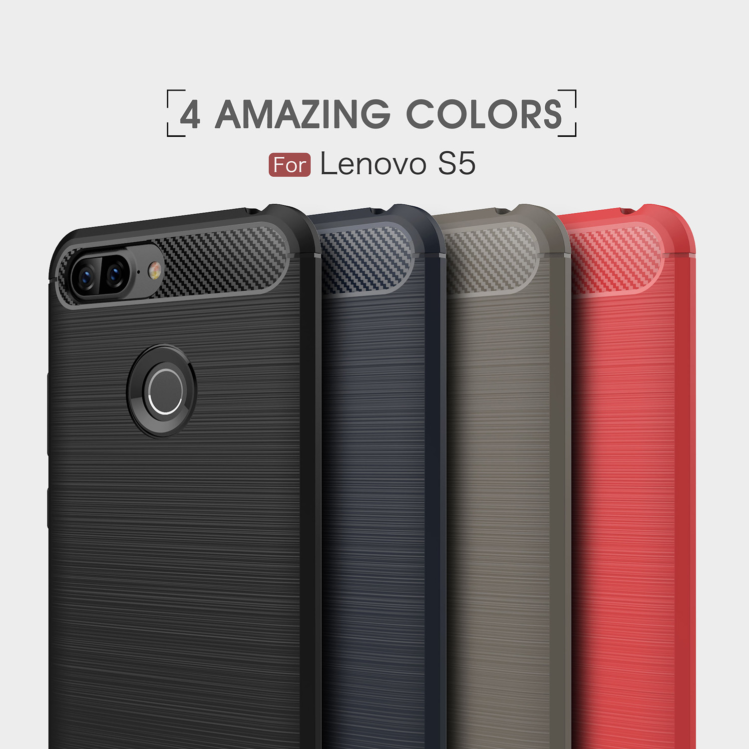 HATOLY Cover Lenovo Vibe S5 Case Phone Bag Soft Silicone Rubber Phone Cover Case for Lenovo S5 Case for Lenovo Vibe S5 in Fitted Cases from Cellphones