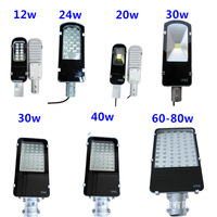 LED Street Light 12W 24W 40W 60W Cree Chips AC85 265V Waterproof IP65 Led Road Lamps